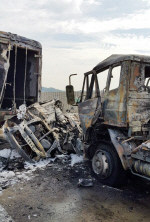 """부울고속도로 청량IC 인근서 '졸음운전'에 7중 추돌사고...""""1명 사망 1명 부상"""""""