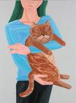 [아침의 갤러리] Woman with cat(exotic)-노석미 作