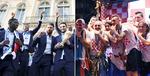러시아 월드컵 1·2위 영웅들의 '금의환향'