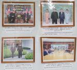 북한 주중대사관 '파격'…문대통령·트럼프 사진 외부 게시판에 내걸어