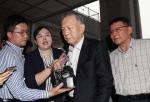 김기춘, 석방 8일 만에 검찰 출석 '재판 거래 의혹 연루 혐의'