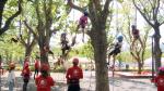 [영상] 입소문 난 부산시민공원 '트리 클라이밍' 체험...얼마나 재밌길래