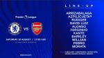 [EPL]'런던 더비' 첼시 VS 아스날 라인업...아자르 벤치-외질 선발