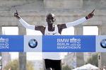마라톤 케냐 킵초게, 2시간1분39초 세계新
