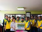 에쓰오일 부산지사 직원 10명, 송국클럽하우스 방문·후원금 전달