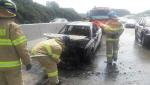 경부고속도로 상행구간 NF소나타 '원인불명' 화재… 50여 분간 차량정체