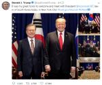 """트럼프 대통령 """"문재인 대통령 만나 환영해 큰 영광""""…각별한 애정 과시"""