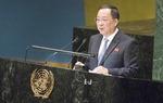 """북한 리용호 """"국가안전 확신 없인 일방적 핵무장 해제 없다"""""""