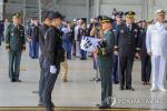 국군의 날, 유해 봉환식에 최고 예우 갖춰...공군 전투기 호위