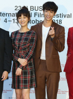 [국제포토] 진의함 '영화에서 류이호 뺨 때렸다. 미워하지 말아 달라' (BIFF - 모어댄블루)