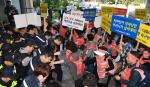 계약 만료 남포광복지하상인회 재계약 촉구 시청서 대규모 집회