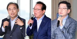 """부울경 단체장 사상 첫 100일 공동 회견…북항서 """"우리는 경제 한 뿌리""""'"""