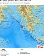 그리스 근해에서 규모 7.0 지진