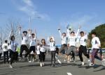 부산마라톤 완주, 기쁨의 점프