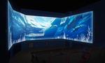 빛으로 만든 작품전, 3면 스크린으로 보는 바다