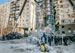 러시아 아파트 붕괴로 37명 사망