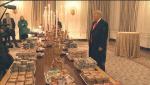 """트럼프 백악관 만찬 메뉴로 맥도날드 햄버거…""""위대한 미국음식"""""""