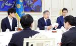 문재인 대통령, 벤처기업인들과 대화