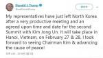 """트럼프 """"2차 북미정상회담 27~28일 베트남 하노이서"""""""