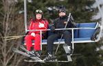 러시아·벨라루스 정상 '스키장 외교'
