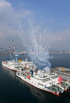 한국해양대 2.5배 커진 한나라호 위용…대학 실습선 4척 명명식