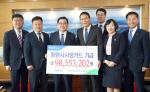 농협은행 창원시지부, '창원시사랑카드' 적립금 9800만 원 전달