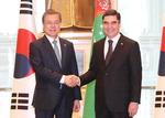 한국·투르크메니스탄 정상회담…산업·에너지 협력 확대