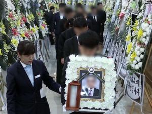 진주 방화·살인 사건 희생자 1명 첫 발인'