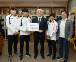 카바디·펜싱 국가대표 선수들, 동의대에 후배사랑 발전기금 기탁