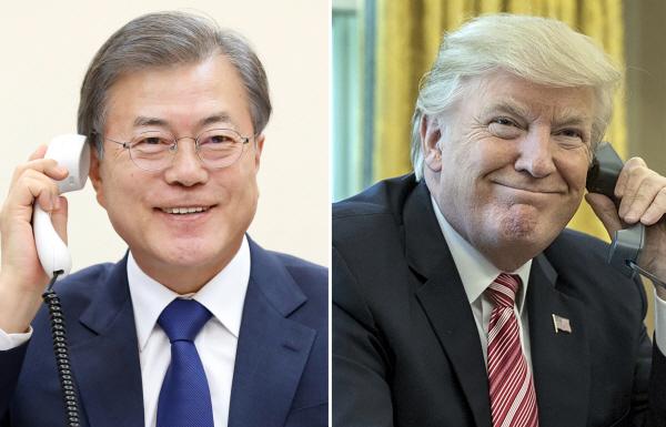 """韓美정상 """"北 대화궤도 이탈 않아야""""…협상 조기재개 방안 협의"""