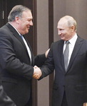 """푸틴 만난 폼페이오 """"북한 문제 목표 같아…협력지점 있을 것"""""""