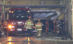 현대 수출차 이송 선박 화재로 4명 부상, 신차 30여대 불타