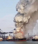 태국 항구서 한국 해운사 컨테이너선 폭발…인명피해는 없어