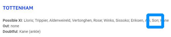 UEFA 공식, '손흥민 선발' 토트넘-리버풀 챔피언스리그 결승 예상 라인업