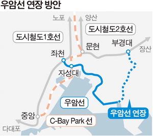 우암선, 도시철도 2호선 부경대역까지 연장 검토