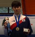 동아대 태권도부 강민우 선수,제30회 나폴리 하계유니버시아드 태권도 80kg 금메달
