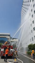 고신대복음병원·중부소방서, 합동 화재대응 재난훈련 실시