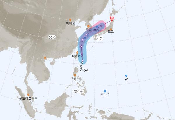 태풍 '다나스' 북상 중…전국 많은 비, 한반도 영향은?