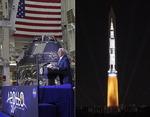 """달 착륙 50주년 성대한 행사…트럼프 """"이제 화성으로 가자"""""""
