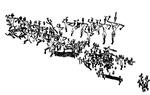 암화에 새겨진 집단 군무…신석기 시대 음악과 함께 춤도 성행
