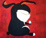 [아침의 갤러리] black rabbit - 한충석 作