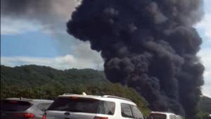 [영상] 청주 전자제품 공장서 화재, 하늘 뒤덮은 검은 연기'