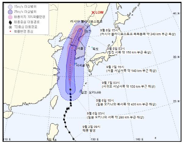 '역대급 위력' 태풍 링링 경로, 제주 지나 서울로…한반도 덮친다