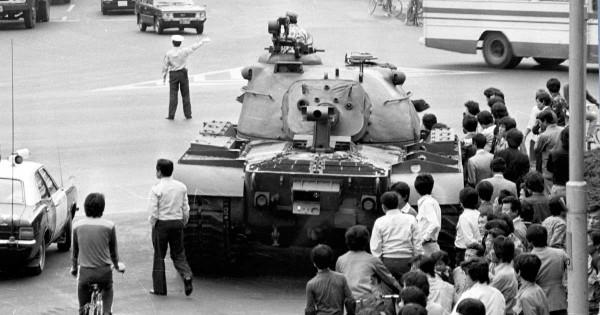부마항쟁 진압할 때 가스살포 헬기 대기