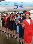 대한항공 50주년…역대 유니폼 11종 다시 선보인다