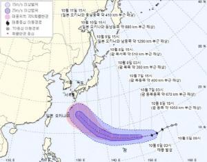 올해 가장 강력한 태풍 온다…19호 태풍 '하기비스' 어디까지 왔나