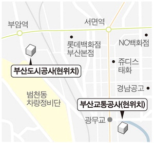 부산교통공사·부산도시공사 원도심 떠난다