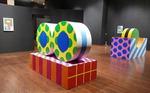 화려한 색깔 입은 도트…정육면체·원통이 예술작품으로