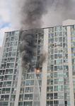 창원 성산 아파트서 화재, 주민 1명 사망 13명 부상