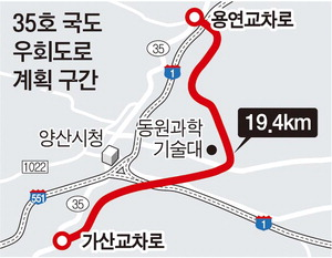 양산 35호 국도 우회로 개설 '가시화'